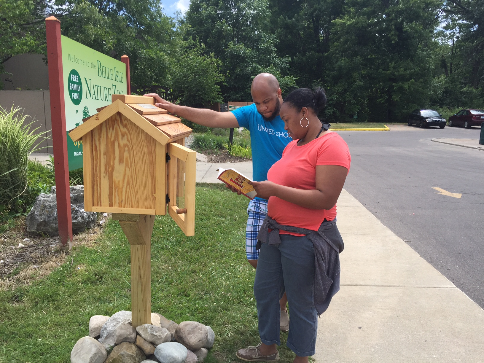 Little Free Library World Map.Belle Isle Nature Zoo Little Free Library Detroit Zoological